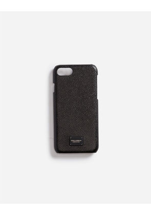 Dolce & Gabbana Hi-Tech Accessories - iPHONE 7 COVER IN LEATHER BLACK