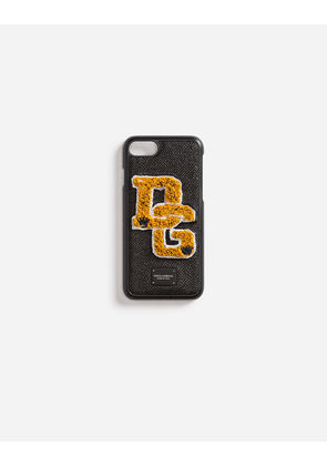 Dolce & Gabbana Hi-Tech Accessories - IPHONE 7 COVER WITH PATCH BLACK