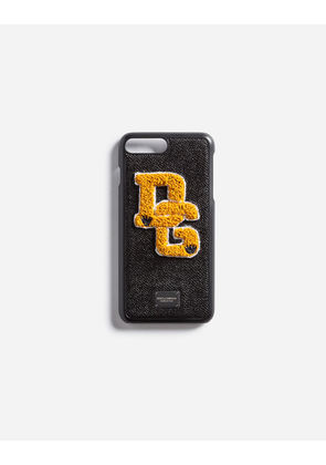 Dolce & Gabbana Hi-Tech Accessories - IPHONE 7 PLUS COVER WITH PATCH BLACK
