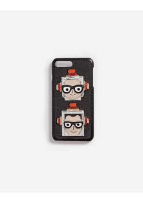 Dolce & Gabbana Hi-Tech Accessories - IPHONE 7 PLUS COVER WITH PATCHES OF THE DESIGNERS BLACK