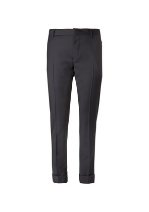 Valentino - Wool And Mohair-blend Trousers - Navy