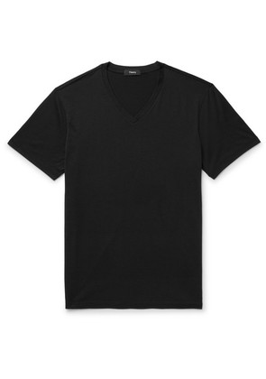Claey Slim-fit Silk And Cotton-blend Jersey T-shirt