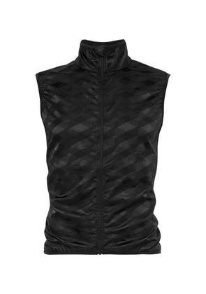 Cafe du Cycliste - Jacqueline Windproof Stretch-jacquard Cycling Gilet - Black