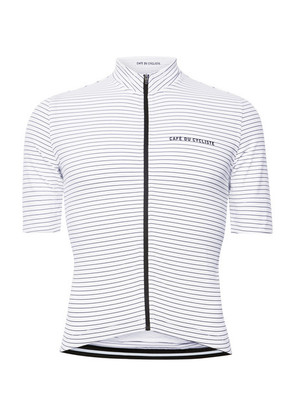 Cafe du Cycliste - Striped Cycling Jersey - White