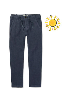 Hartford - Boys Ages 2 - 12 Linen-chambray Drawstring Trousers