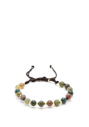 Moss-agate and gold-vermeil bracelet