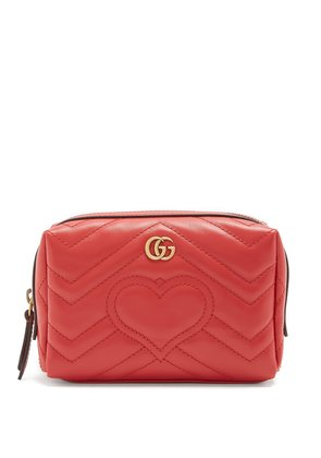 GG Marmont quilted-leather make-up bag