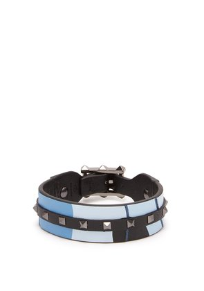 Rockstud leather bracelet