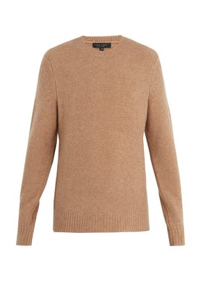 Charles crew-neck wool-blend sweater