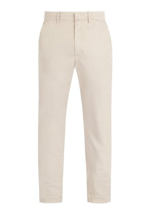 Mid-rise cotton chino trousers