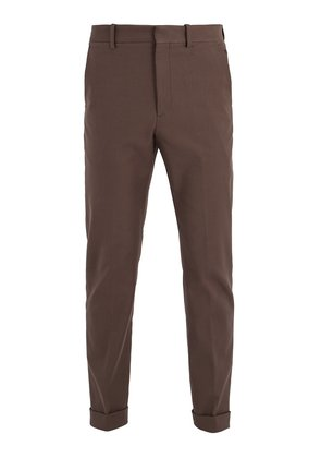 Tapered-leg stretch-cotton chino trousers