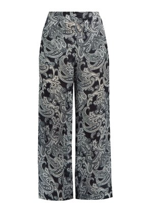 Tennessee paisley-print wide-leg trousers