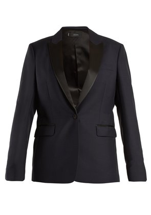 Hampsted satin-lapel wool-blend tuxedo jacket
