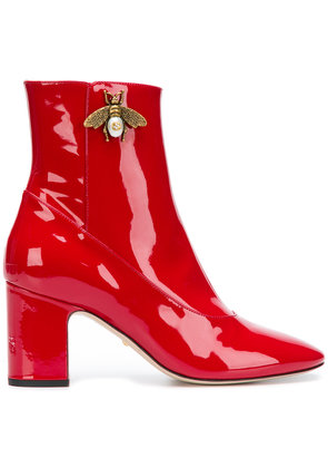Gucci bee ankle boots - Red