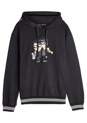 Dolce & Gabbana Embrodiered Cotton Hoodie
