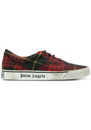 distressed plaid low-top sneakers - Red Palm Angels eHGfRysZ