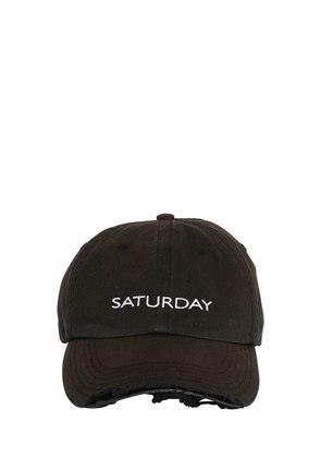 WEEKEND DISTRESSED CANVAS BASEBALL HAT