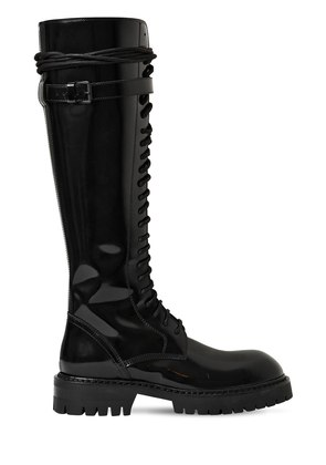 30MM POLISHED LEATHER TALL BOOTS
