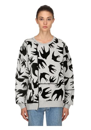 OVER SWALLOWS PATCHWORK SWEATSHIRT