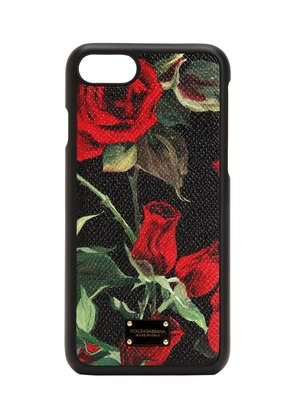 ROSE PRINT LEATHER IPHONE 8 COVER