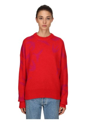 OVERSIZE WOOL BLEND JACQUARD SWEATER