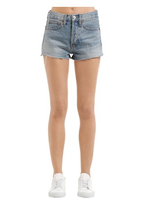 THE SHORT COTTON DENIM SHORTS