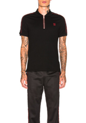 Givenchy Zip Polo in Black,Red