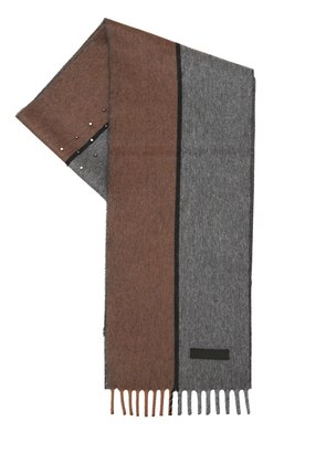 STUDDED TWO TONE CASHMERE SCARF