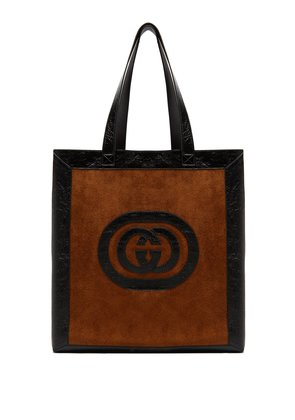 Ophidia medium suede tote