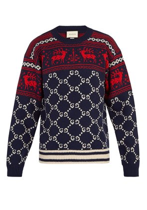 GG reindeer wool sweater