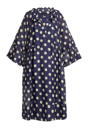 Minnie cotton and silk-blend dress