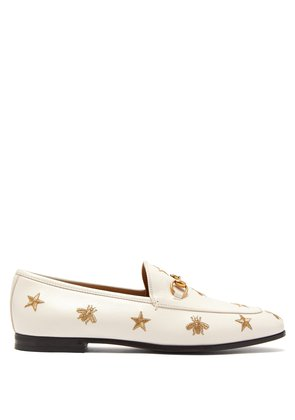 New Jordaan embroidered leather loafers