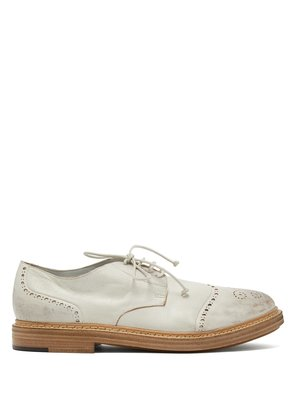 Gru distressed leather brogues