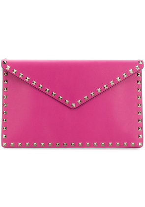 Valentino Rockstud heart key ring - Pink & Purple