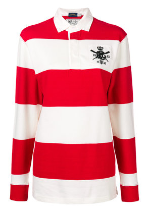 Polo Ralph Lauren striped long-sleeve polo top - Red