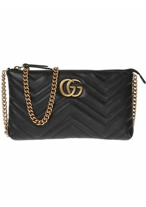 Gucci GG Marmont wallet on chain - Black