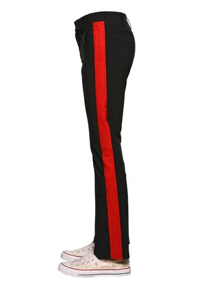 SIDE BANDS STRETCH FABRIC PANTS