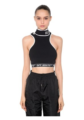 RIBBED TOP W/ STRAP COLLAR