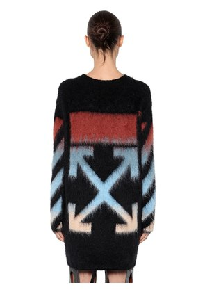 OVERSIZED MOHAIR KNIT SWEATER