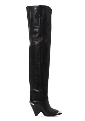 90MM LAFSTEN LEATHER OVER THE KNEE BOOTS