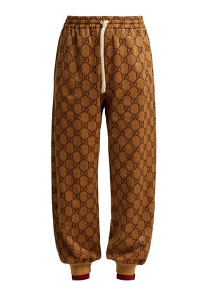 GG-printed jersey track pants