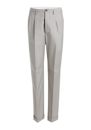 Maison Margiela Printed Pants in Virgin Wool and Cotton