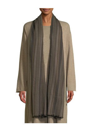 Bhutanese Striped Hand-woven Cashmere Scarf