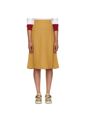 Chloé Tan Panelled Skirt