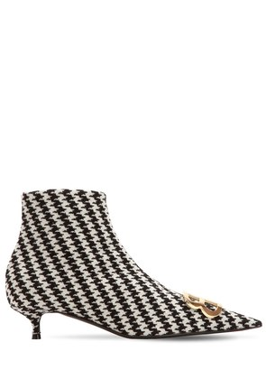 40MM BB HOUNDSTOOTH ANKLE BOOTS