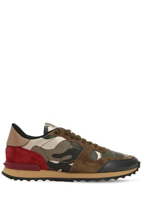 ROCKRUNNER CANVAS & LEATHER SNEAKERS