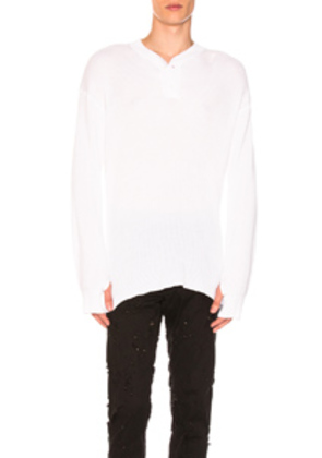 Ann Demeulemeester Knit Pullover in White