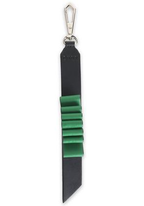Dkny Woman Two-tone Leather Keychain Green Size -