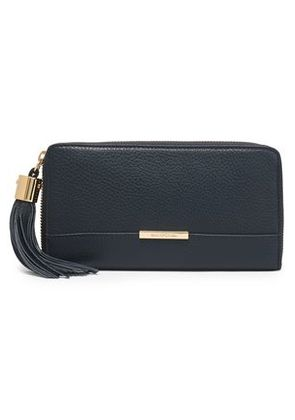 See By Chloé Woman Tasseled Textured-leather Wallet Navy Size -