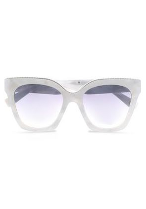 Marc Jacobs Woman D-frame Printed Acrylic Sunglasses White Size -